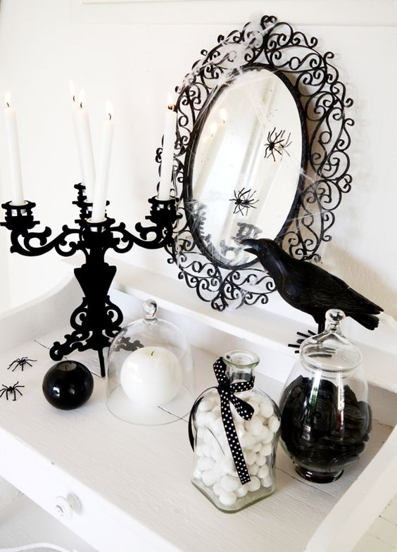 halloween_decoración_ideas_inspiraciones_en_blanco_y_negro