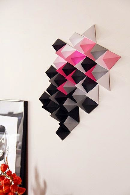 Tendencia 2015, decorar paredes con origami