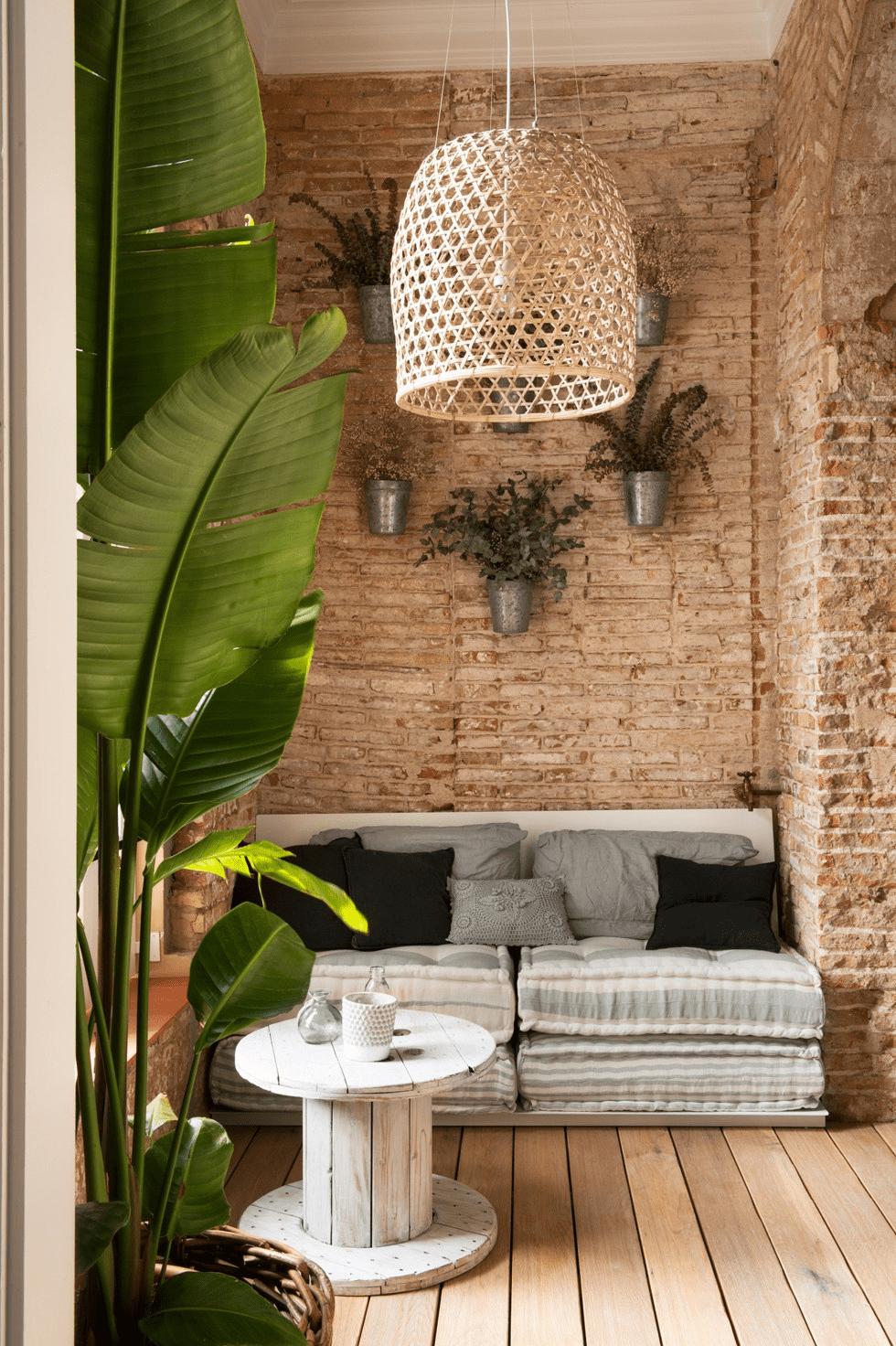 Las_claves_del_estilo_eco_chic_decoinspiración_decolook_jardín_interior_fibras_naturales_plantas_lino