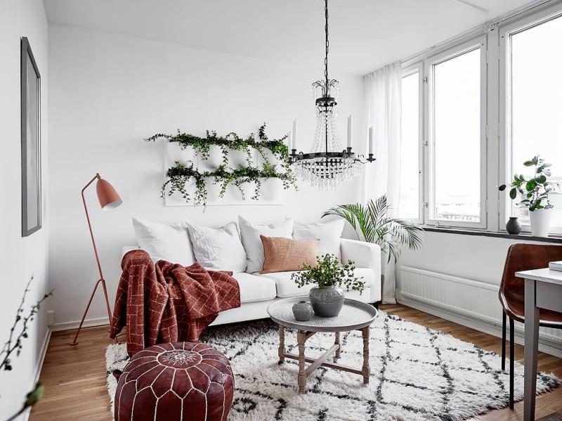 Decorar_con_plantas_de_interior_un_mini_piso_decoinspirción_decolook_salón_ecléctico
